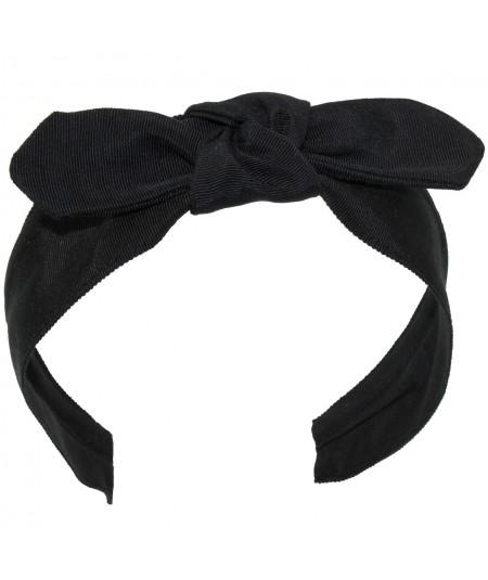 Black Grosgrain Center Riverter Headband