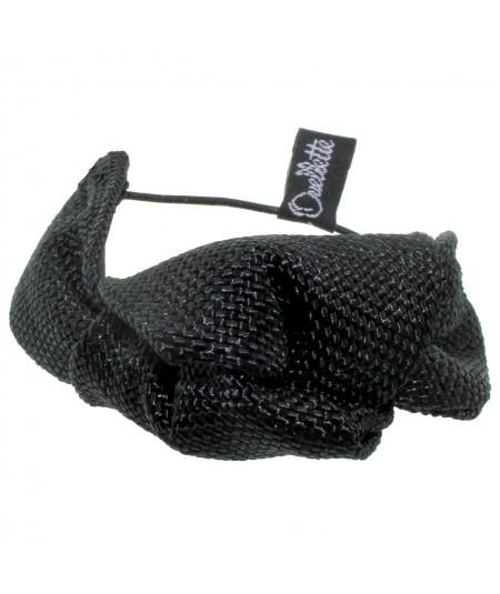 Black Raffia Bracelet or Ponytail Holder by Jennifer Ouellette