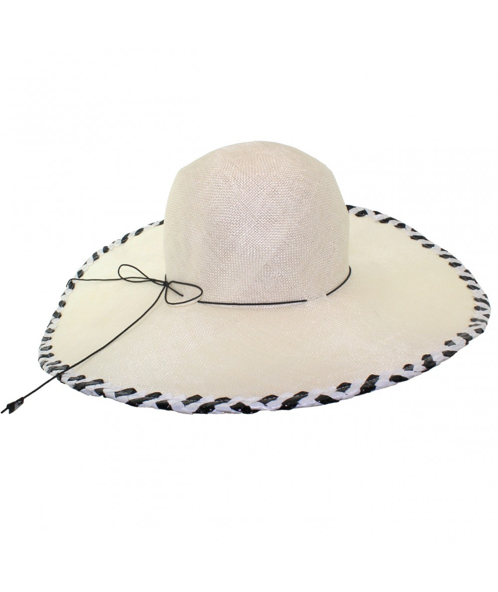 de952d0b645 Jennifer Ouellette  Straw Beach Sun Hat Black and White Color Combo