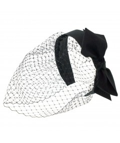 Black Side Bow Face Veil