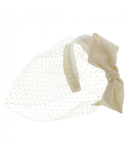 Ivory Side Bow Face Veil