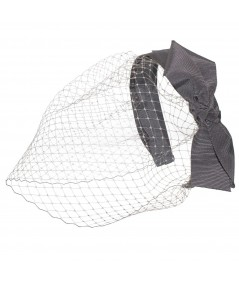 Steel Grey Side Bow Face Veil