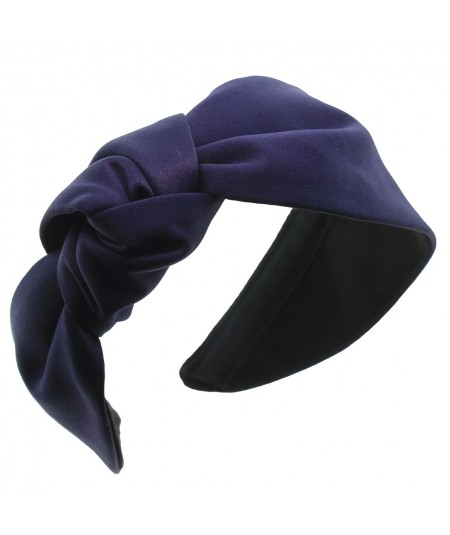 Satin side knot turban headband - Lana
