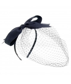 Vera Veil with Grosgrain Bow Fascinator