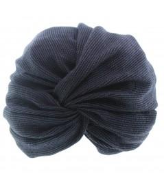 Hat turban - Blue black tweed