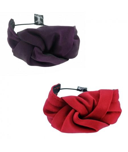 Mauve - Rouge Satin Knot Ponytail Holder or Bracelet