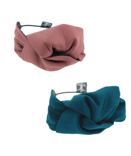 Old Rose - Turquoise Satin Knot Ponytail Holder or Bracelet