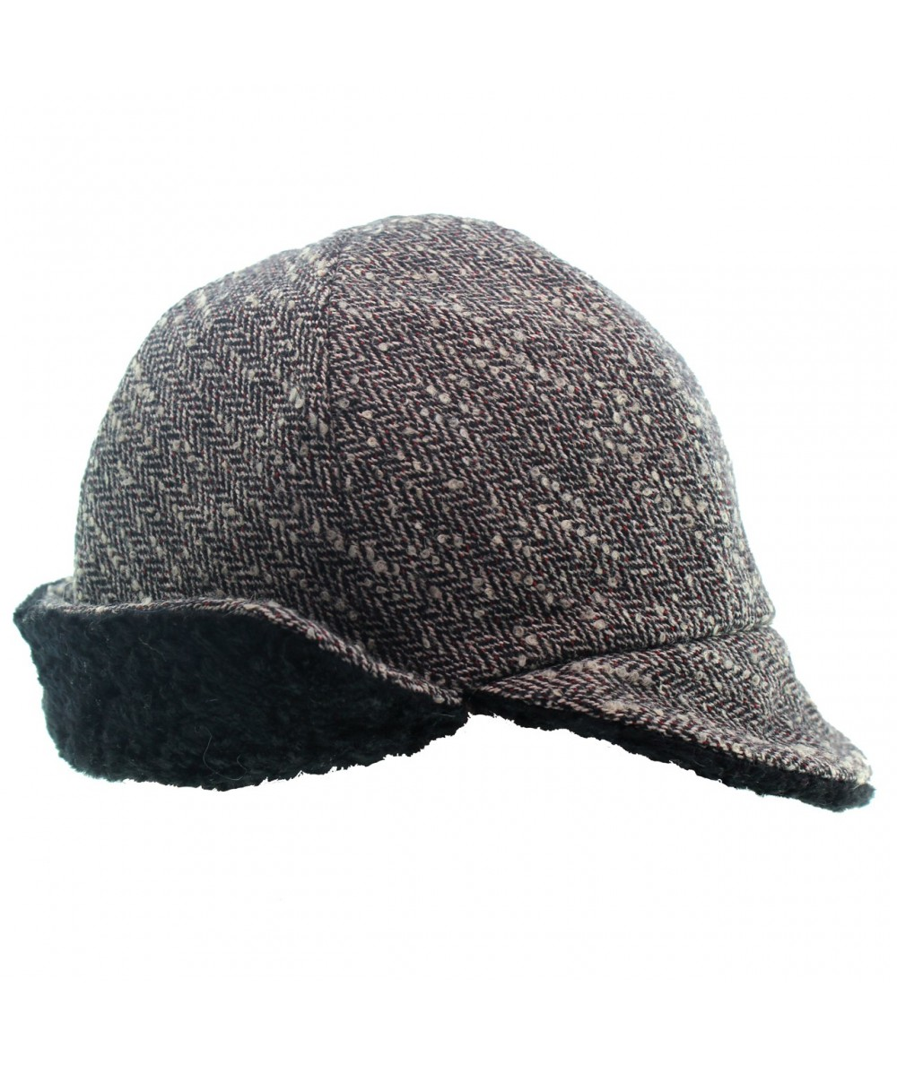 ht421-boucle-flap-cap-with-faux-persian-lamb-detail