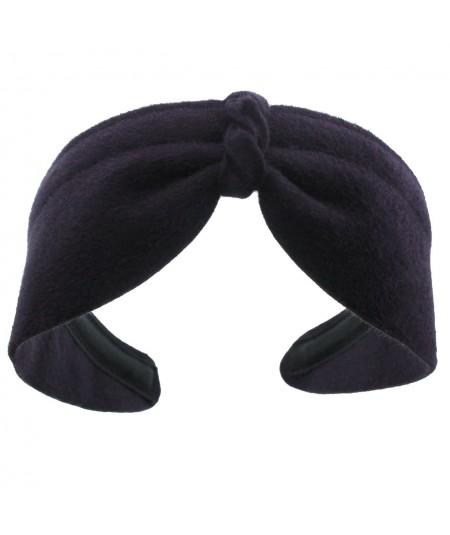 Navy Felt Center Turban Headband