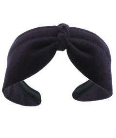 Navy Felt Center Turban Headband