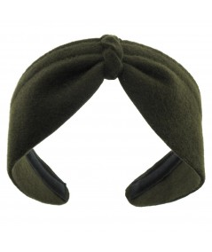 Loden Felt Center Turban Headband