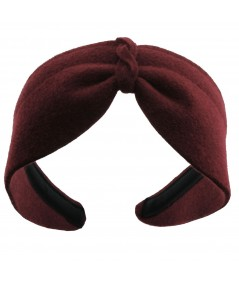 Wine Felt Center Turban Headband