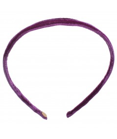 Skinny Velvet Headband - Crazy Purple