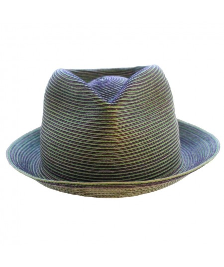 Classic Trilby look with a millinery colored stitch the Fedora Frankie by Jennifer Ouellette