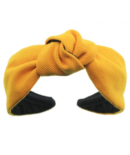 Marigold Cotton Twill Harlow Turban Headband