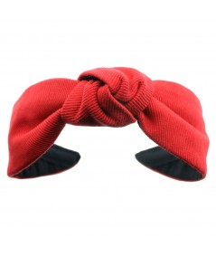 Red Cotton Twill Harlow Turban Headband