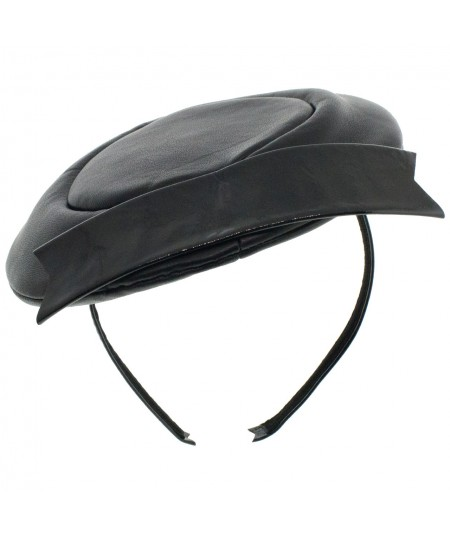 lr34-leather-beret-headpiece-trimmed-with-patent-leather