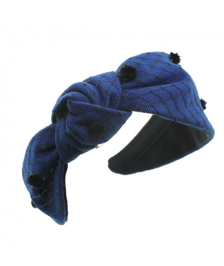 cotton-twill-side-knot-turban-with-veiling