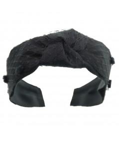 Black Bernadette Summer Headband for Women