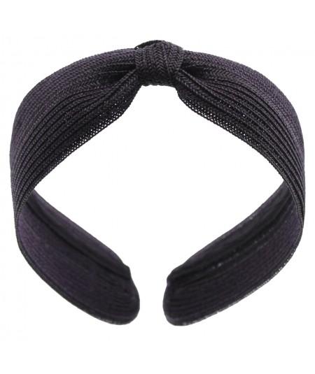 Straw Center Basic Turban - Navy