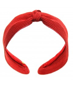Center Basic Turban Straw - Red