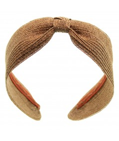 Center Basic Turban Straw - Wheat