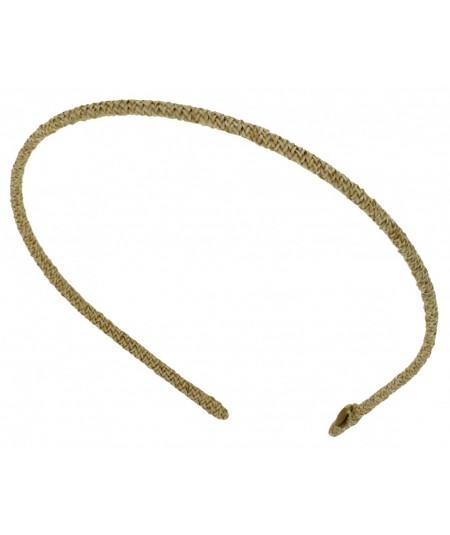 Butter Skinny Toyo Straw Wrapped Headband