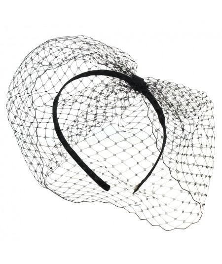 Black side-divot-fascinator