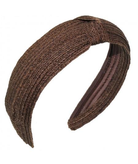 Brown Toyo Straw Center Knot Turban