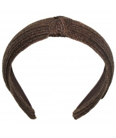 Brown -toyo-straw-center-knot-turban