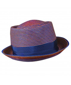 Color Stitch Men's Hat with Grosgrain Band