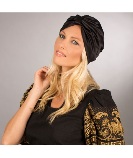 Satin Turban Hat by Jennifer Ouellette