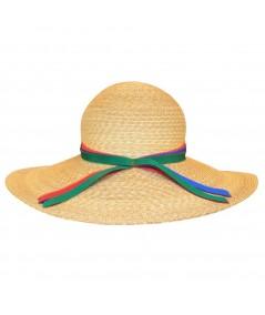 Green Combo Summer Big Brim Hat by Jennifer Ouellette