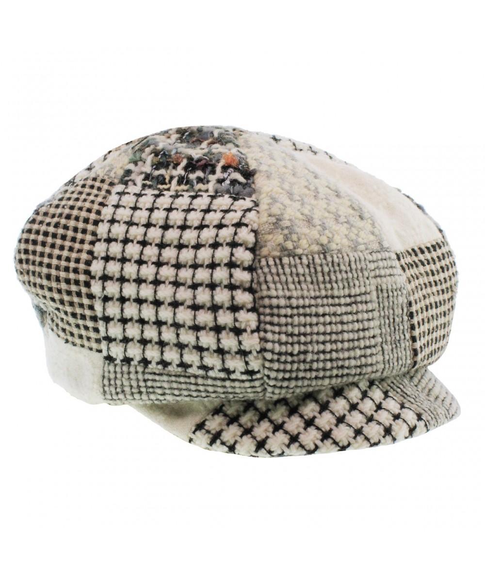 ht519-tweed--boucle-patchwork-cap