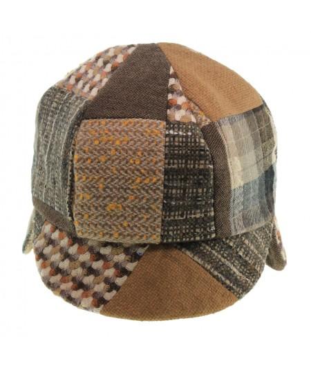 ht520-jo-recycled-tweeds-patchwork-flap-cap