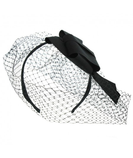 fcr23-veiling-fascinator-with-grosgrain-abstract-origami-knot