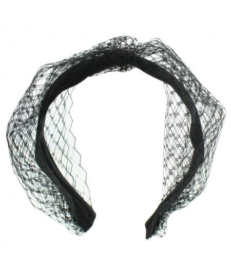 Veiling Extra Wide Center Turban Black