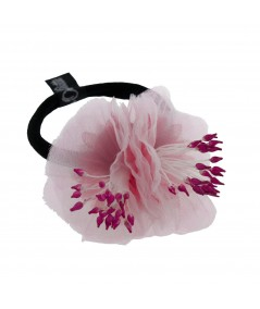Pink Flower Ponytail Holder by Jennifer Ouellette