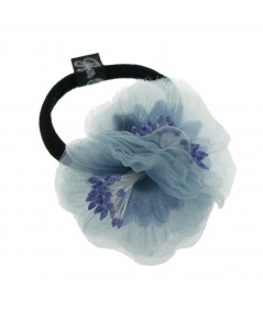 Blue Flower Ponytail Holder by Jennifer Ouellette