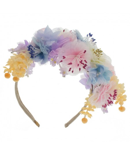 FR10 Pastel Floral Frida Inspired Headpiece