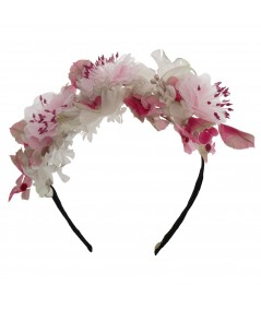 FR12 Small Vintage Floral Frida Inspired Headpiece