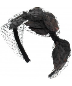 svl24-vintage-leaves-and-veiling-side-bow-headpiece