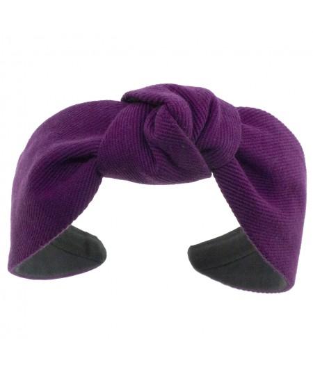 Purple Cotton Twill Harlow Turban Headband