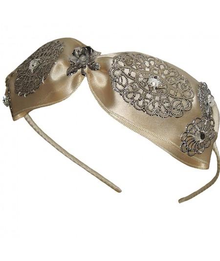 stsk6-center-satin-bow-with-metal-flower-trim-headband
