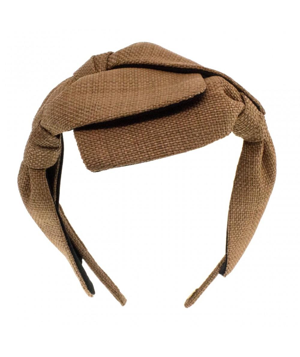 Wheat Italian Raffia 3 Bow Headband