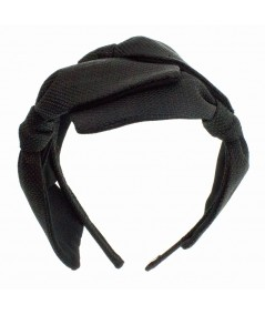 Black Italian Raffia 3 Bow Headband