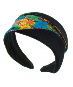 Liberty Print Wide Headband with Cotton Twill Trim