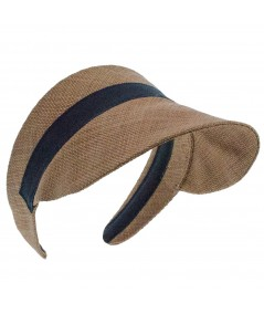 Raffia Summer Visor for Sun Protection by Jennifer Ouellette