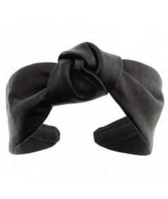 Leather Center Knot Turban