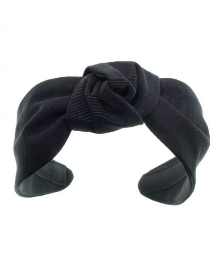 Black bengaline-center-turban-headband